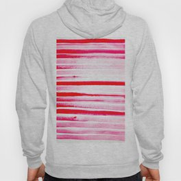 Christmas Candy Cane Red Stripe Hoody