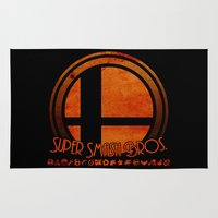 super smash bros Area & Throw Rugs featuring Super Smash Bros.  by Donkey Inferno