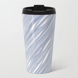 The silver sea - Simple light blue pattern Travel Mug