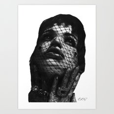 Glamour. Art Print