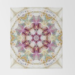 Mandalas from the Heart of Change 7 Throw Blanket