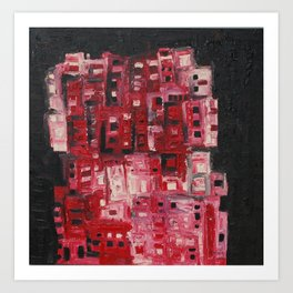 Red towers Art Print
