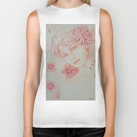 leah flores Biker Tanks featuring Flores. by marmaseo
