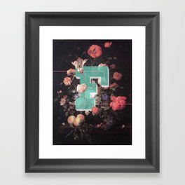 Letter F Framed Art Print