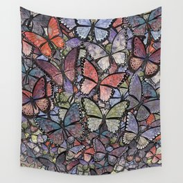 butterflies galore grunge version Wall Tapestry
