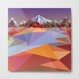 Night Mountains No. 23 Metal Print