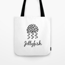 Jellyfish B&W Tote Bag