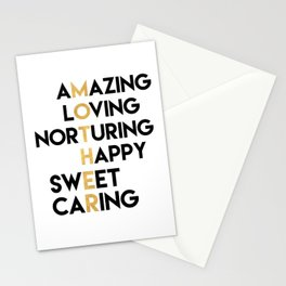 DEAR MOTHER Mothers Day quote Stationery Cards