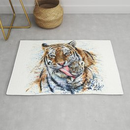 Tiger with cub Rug