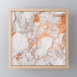 Copper Marble Framed Mini Art Print