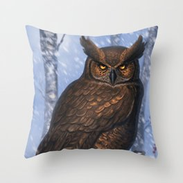 Eyes of the night. Throw Pillow
