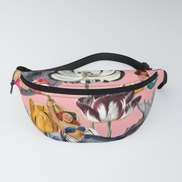 Mermaid Floral with moon Fanny Pack
