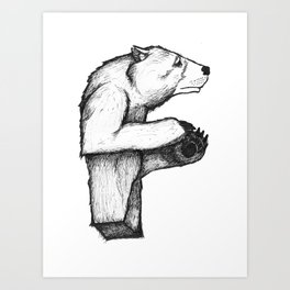 F - Animal Alphabet Art Print