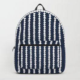 Tiny Triangles Stripes in Navy Blue Backpack