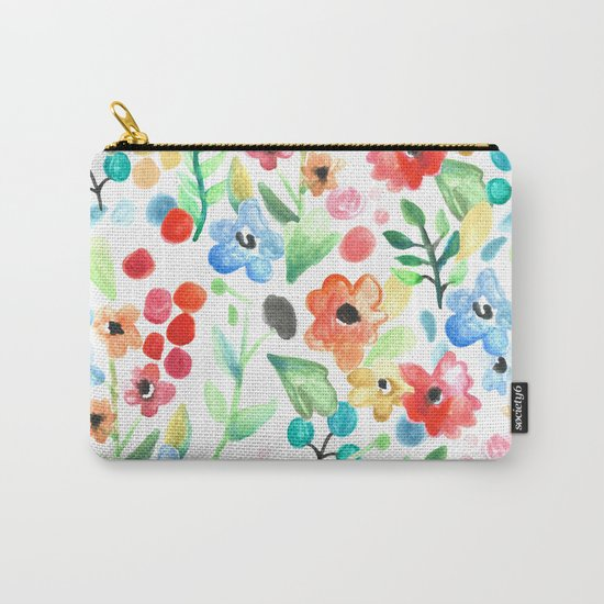 Flourish - Watercolor Floral Carry-All Pouch