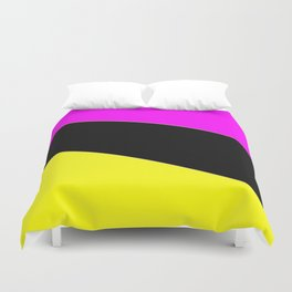 Angelica . Lemon , raspberry , black Duvet Cover