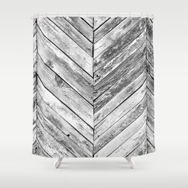 Vintage wood pattern Shower Curtain