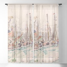 """Paul Signac """"Venice"""" Sheer Curtain"""