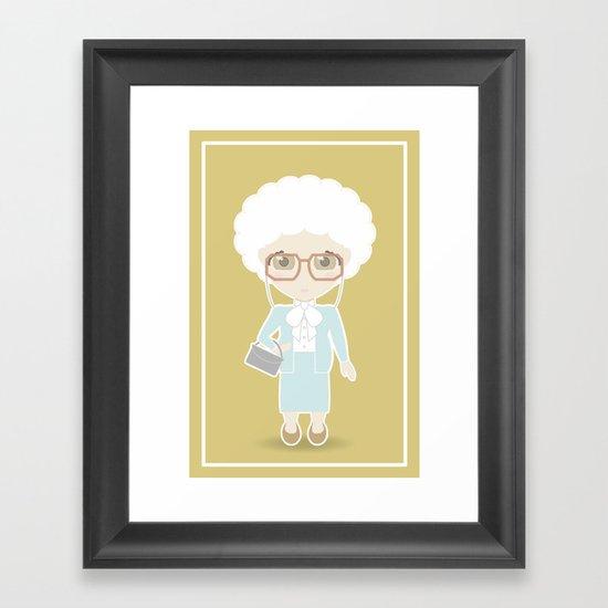 Girls in their Golden Years - Sophia Framed Art Print