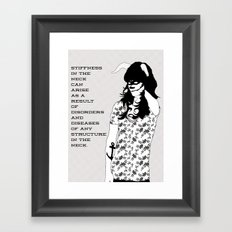 Stiff neck? Framed Art Print