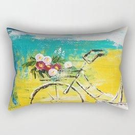 flower bike Rectangular Pillow