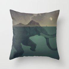 Elephant mountain Throw Pillow