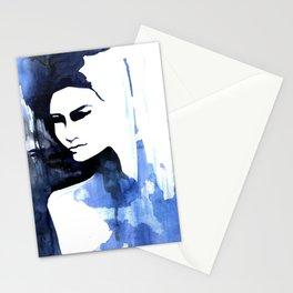 Blue portrait by Anna  Radis Stationery Cards