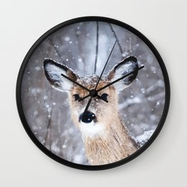Oh deer, oh deer Wall Clock