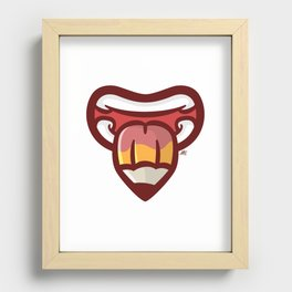 Pencil Mouth Recessed Framed Print