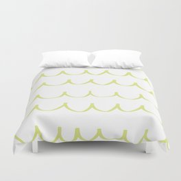 Citron Green Waves Duvet Cover