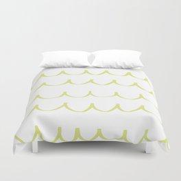 Citron Green Waves Duvet Cover