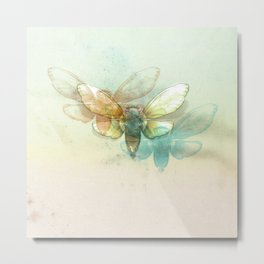 Mr.Summertime (Cicada Skins) Metal Print