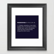 Halucinated Defined Framed Art Print