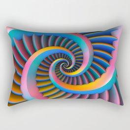 Opposing Spirals Rectangular Pillow