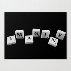 IMAGINE [scrabble] Canvas Print