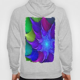 Artistic fractal abstract colour wheel Hoody