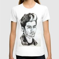 zayn malik T-shirts featuring Zayn Malik drawing by Clairenisbet