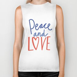 CHRISTMAS PEACE AND LOVE Biker Tank