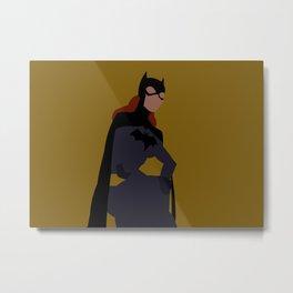Batgirl Minimalism Metal Print