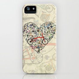 I Love Brompton Bikes iPhone Case