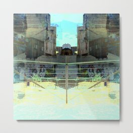 Ocular, cyclical, curved upscale pyrotechnic yell. Metal Print