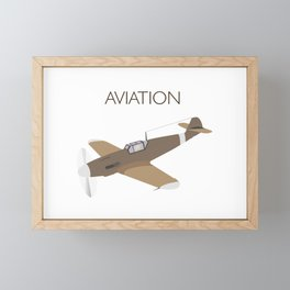 German WWII BF109 Military Airplane Fighter Framed Mini Art Print