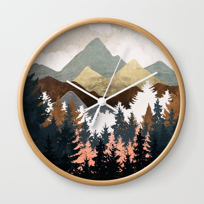 Forest View Wall Clock
