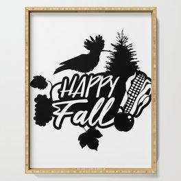 Happy Fall - Autumn - Nature - Bird Serving Tray