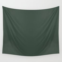 Sherwin Williams Trending Colors of 2019 Dark Hunter Green SW 0041 Solid Color Wall Tapestry