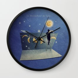 The moon changer Wall Clock
