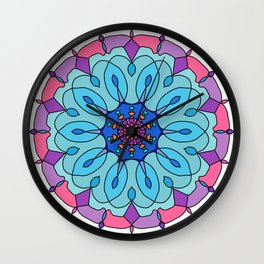 Indian floral paisley medallion pattern Wall Clock