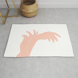 Colour block hands illustration - Kena Rug