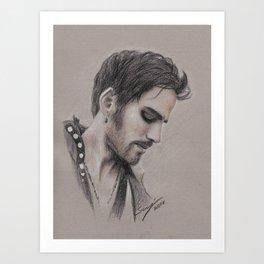 Pensive Pirate Art Print