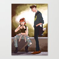 scully Canvas Prints featuring Hey Scully... by Jena Young